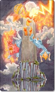 Tower, Aquatic Tarot, www.aquatictarot.de