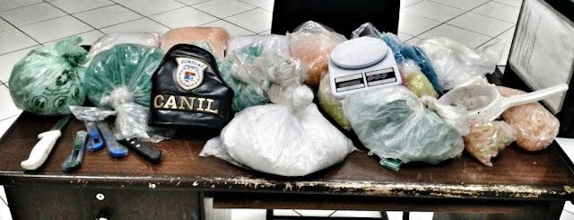 Ação do Canil da Guarda Municipal de Jundiaí localiza quase 3,5 quilos de cocaína no São Camilo
