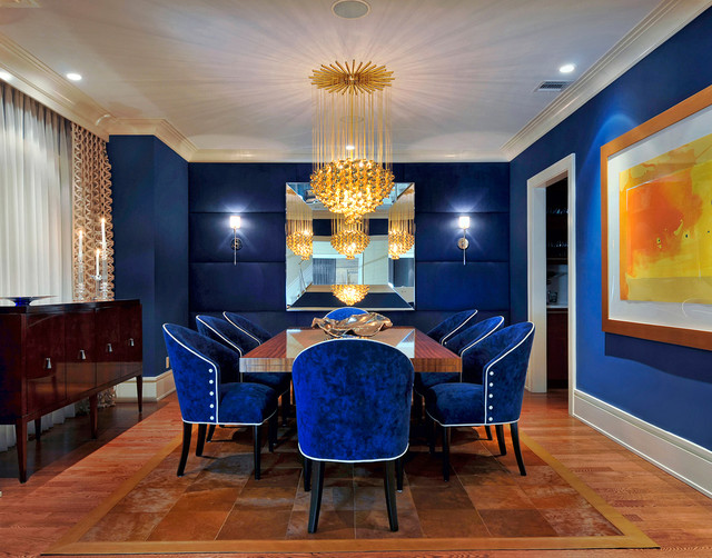 Gold Dining Room Decor: South Shore Decorating Blog: Blue And Gold Rooms And Decor