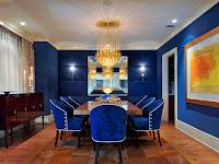 Blue Gold Living Room Decor