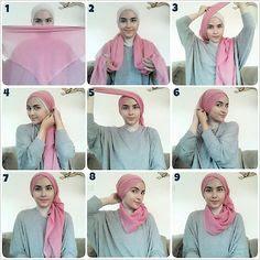 Tutorial Style Hijab Pashmina Turban Kalung