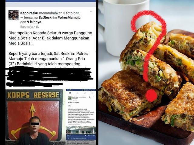 Gara-gara Tulis Martabak Telor di Akun Facebook, Polisi Geram dan Mengamankan Pria Ini
