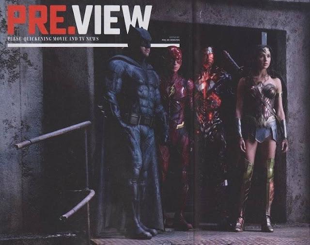 Imagen con los héroes de Justice League por Empire