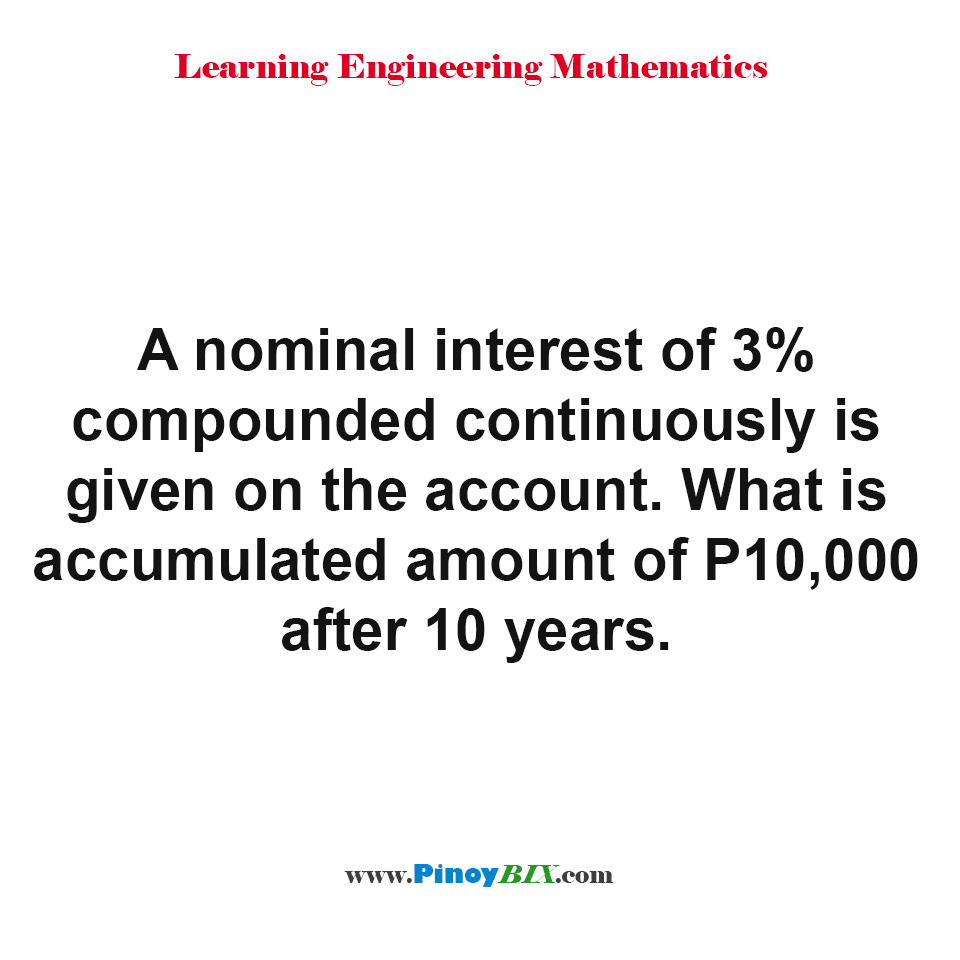 What is accumulated amount of P10,000 after 10 years?