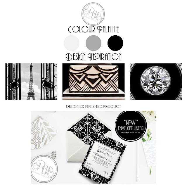 black white art deco style style guide by rbhdesignerconcepts
