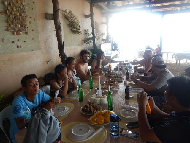 A well deserved meal after Kawasan Canyoneering