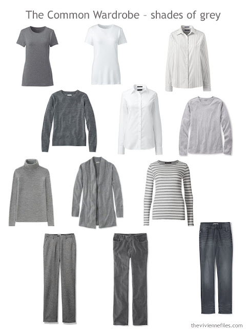 The Common Wardrobe in grey and white