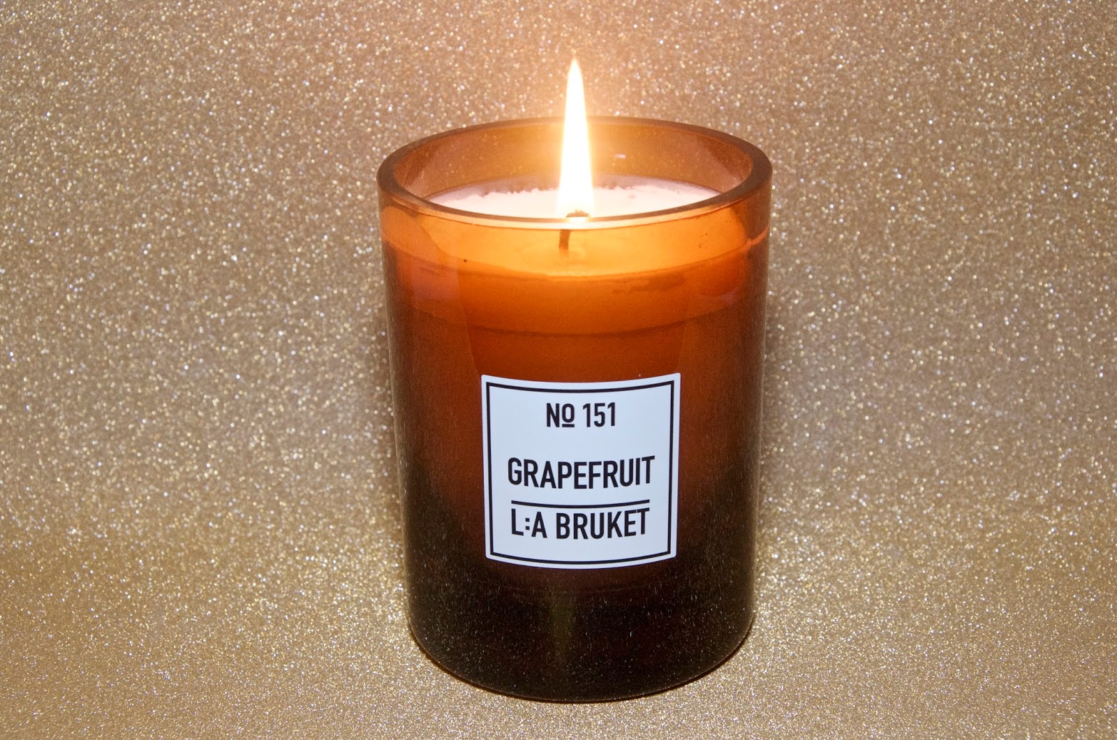 brown glass scented candle