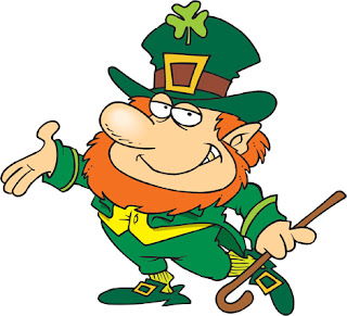 Clipart Image of a Cartoon Leprechaun