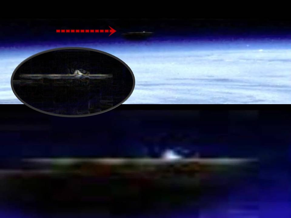 Huge Battleship Type Object Above Planet Earth 2013 |UFO ...