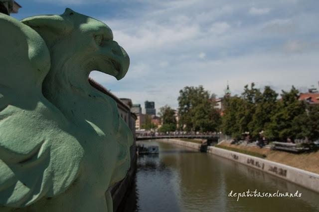 Puente del Dragon en Liubliana