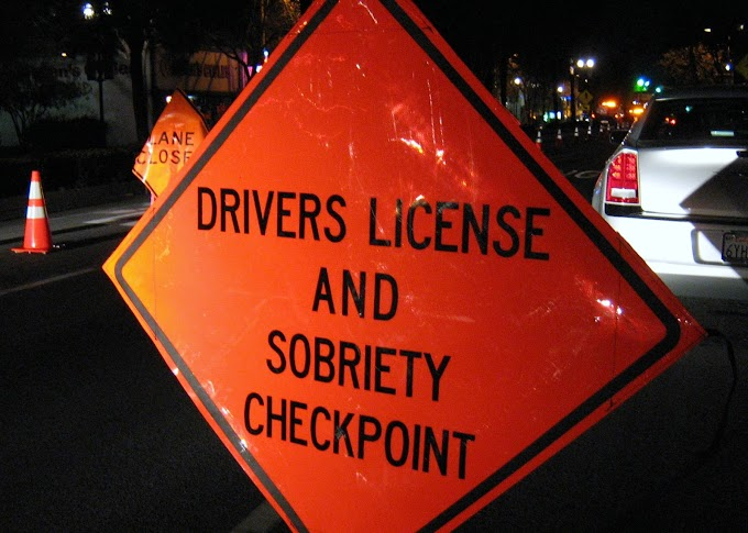 Upcoming DUI/Driver's License Checkpoint