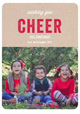 Christmas Card with siblings on a Christmas tree farm