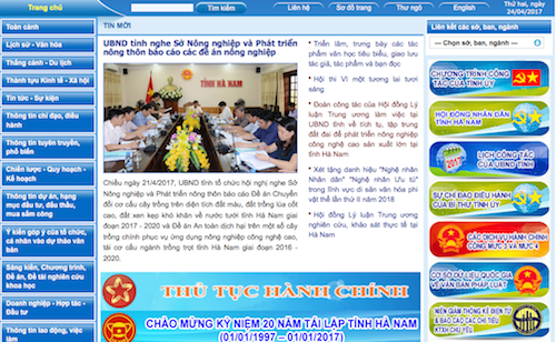 A governmental vietnamese website was used to relay a scam.