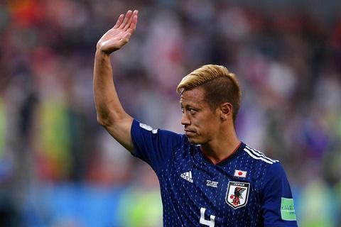 Keisuke Honda đã chơi trận đấu cuối cùng trong màu áo ĐT Nhật Bản