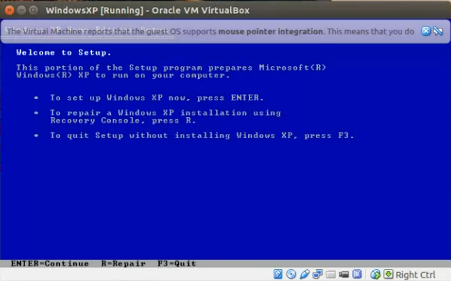 How to install Windows XP in Ubuntu Virtualbox (step by step