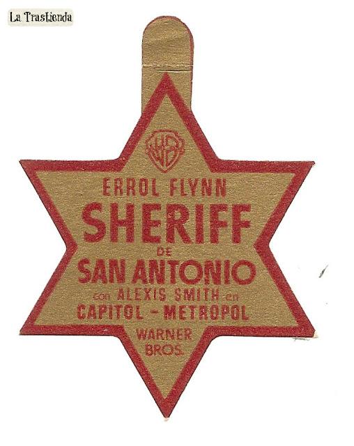 San Antonio - Programa de mano - troquelado (Rareza) - Errol Flynn - Alexis Smith