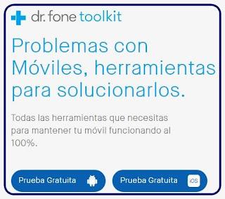 Dr. Fone: Root, recuperación de  datos borrados y más para  tu teléfono