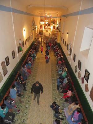 Krippenfeier an HL. Abend in Esmoraca Bolivien