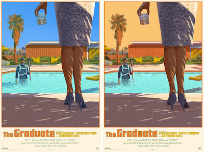The Graduate Movie Poster Screen Print by Laurent Durieux x Nautilus Art Prints