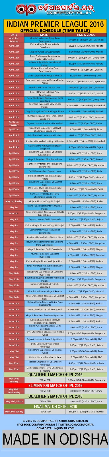 ipl 2019 time table download image