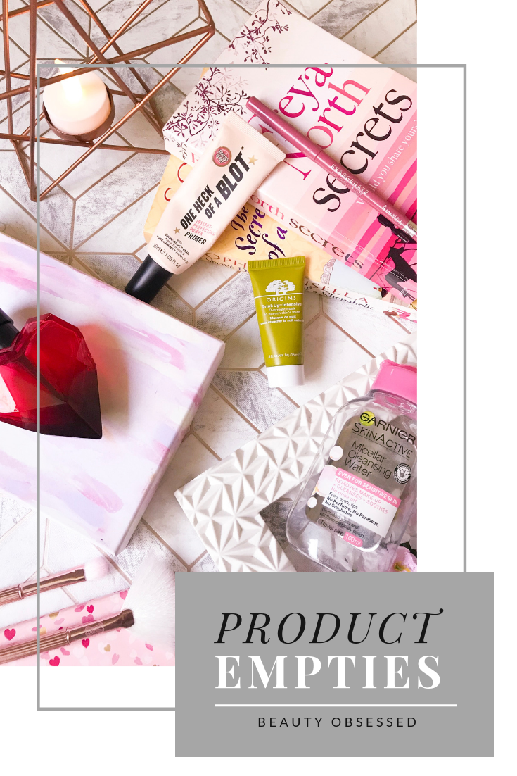 product empties pinterest graphic