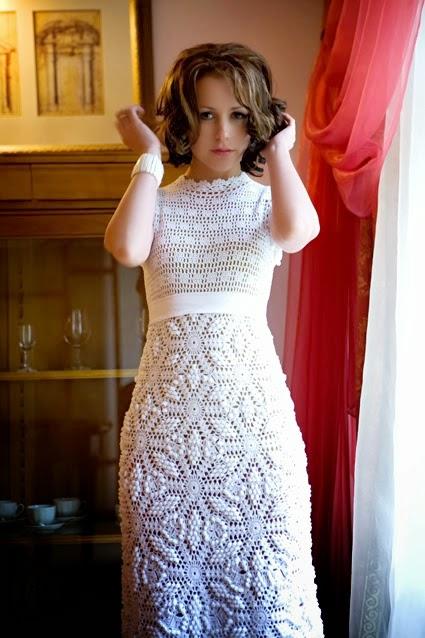 Vestido de Gala a Crochet