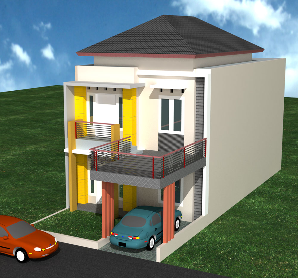 3 Contoh Denah Rumah Minimalis Modern Terbaru: Desain Rumah Modern Minimalis Type 36