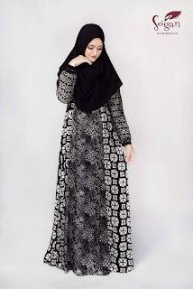 Gambar Gamis Batik Sifon