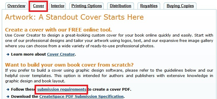 how to make a full print pdf book cover in ms word for print on