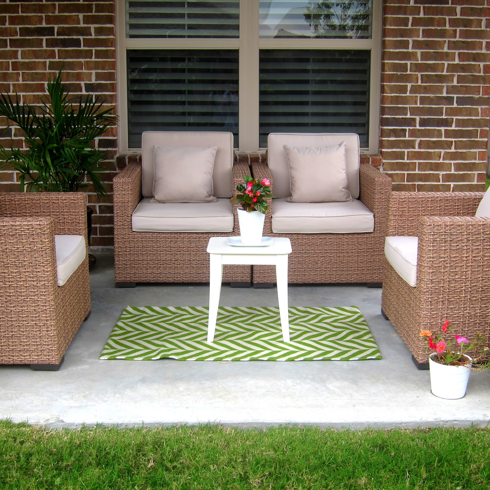 Rugs Furniture: This Is Happiness: Patio Update {outdoor Rug}