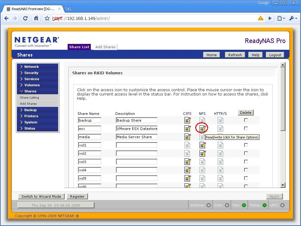 Using a Netgear ReadyNAS as a datastore for ESX/I | An IT