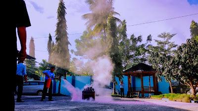 Simulasi Pemadaman Kebakaran Di Markaz K180