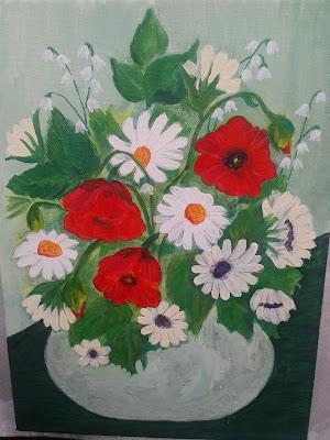 obraz bukiet kwiatów