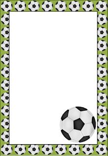 Marcos, Invitaciones, Tarjetas o Etiquetas del Futbol para Imprimir Gratis.