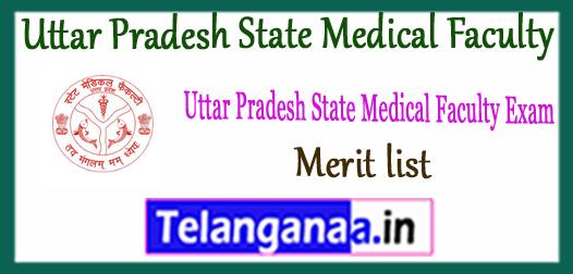 UPSMFAC Uttar Pradesh State Medical Faculty Merit List 2017 1st 2nd 3rd Seat Allotment