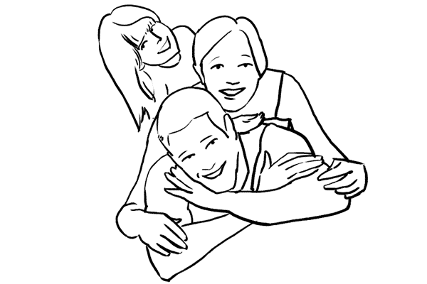 دليل أوضاع تصوير الأسرة بالصور 5