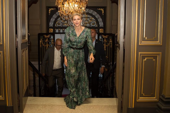 Princess Charlene of Monaco attended a concert of the popular French singer Marina Kaye (Marina Dalmas)