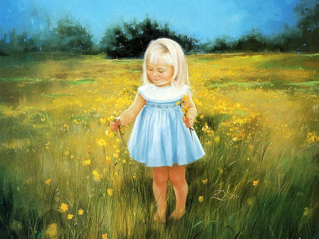 Beautiful Childhood Paintings by Donald Zolan