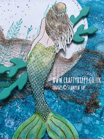 Handmade Mermaid greetings card made with the Magical Mermaid stamp set made by Stampin' Up!