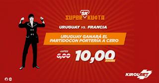 Kirolbet superkuota Mundial 2018 Uruguay vs Francia 6 julio
