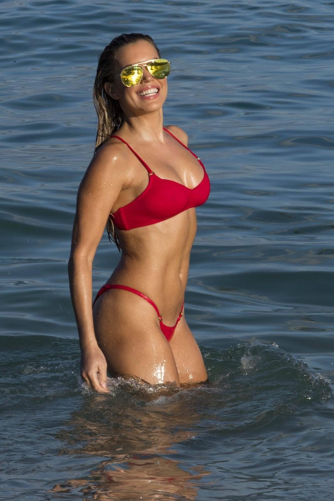Sylvie Meis in Red Bikini