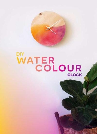 Makeover jam dinding menggunakan cat warna