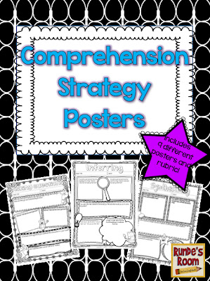 comprehension strategies, reading posters