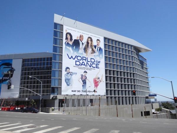 Giant World of Dance NBC series billboard