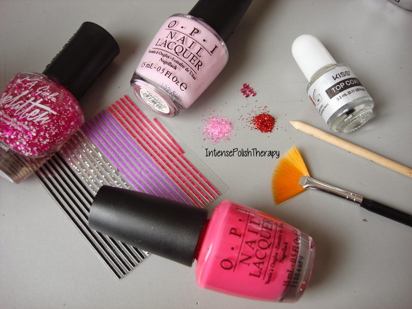 Valentines Day Pink Nail Art