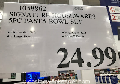 Deal for the Signature Housewares 5-piece Serving Bowl Set at Costco