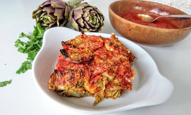 parmigiana carciofi vegan