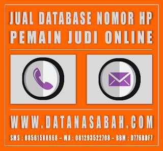 Jual Database Nomor HP Member Judi Online