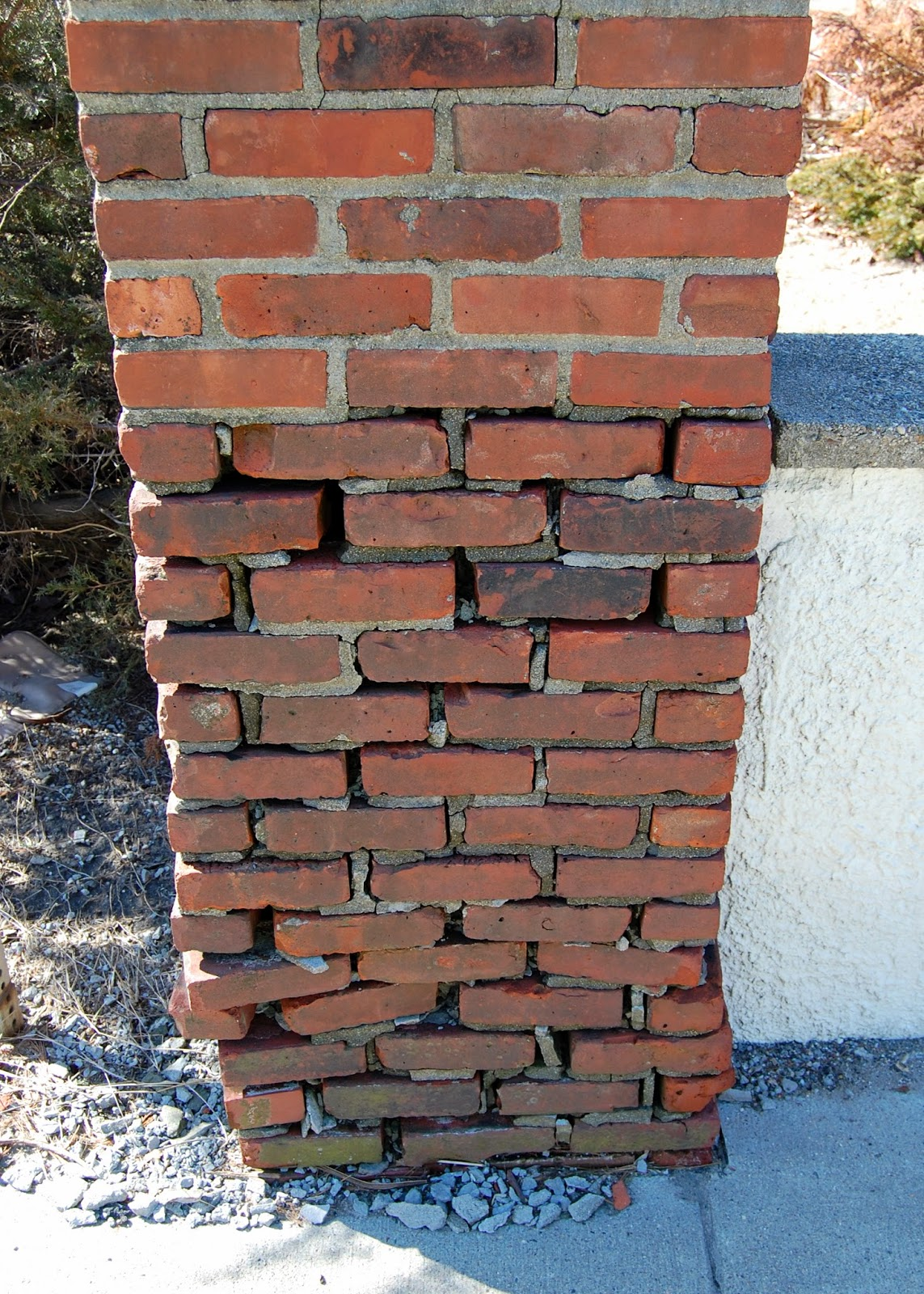 brick column in need of work